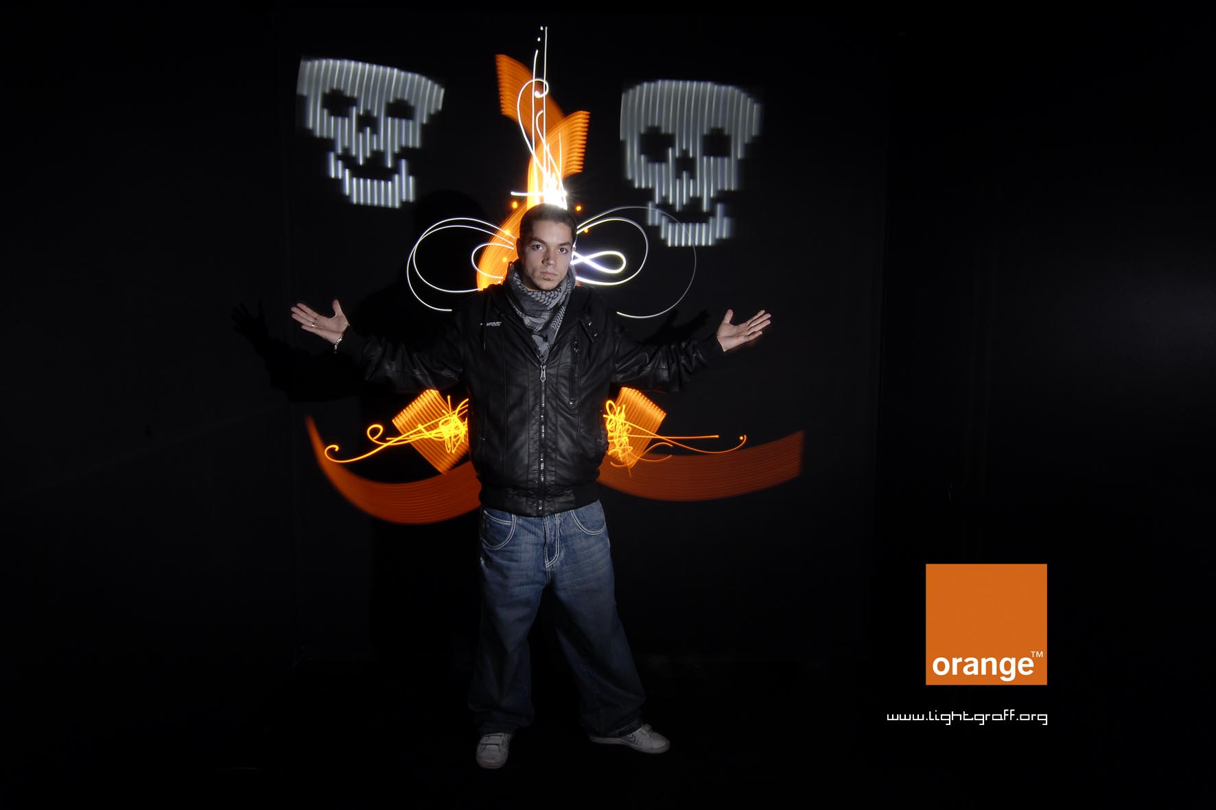 light painting prestations photocall